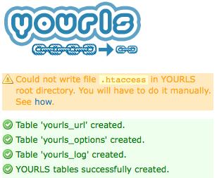 自前で短縮URLを用意するYOURLS